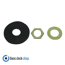 Replacement Quartz Clock Fittings - Rubber & Metal Washers & Fixing Nut - DIY