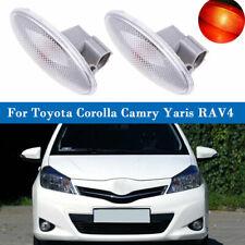 2x Side Corner Turn Signal Lamp Fender Light fit Toyota Corolla Camry Yaris RAV4