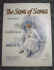 """1924 CLARENCE LUCAS AND MOYA SHEET MUSIC """"THE SONG OF SONGS"""""""