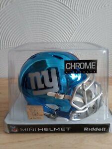 NFL New York Giants CHROME Mini NFL helmet NEW and Boxed