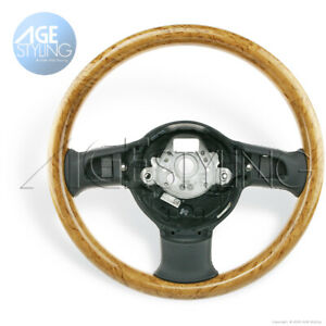 OEM Audi A8 D3 Birch Wood & Black Leather Tiptronic Steering Wheel RIM 2002-2006
