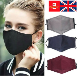 Handmade Washable Reusable Cotton Face Mask With Filter Pocket