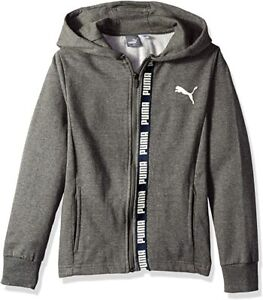 PUMA Big Boys' Full-Zip Fleece Hoodie (Ages 7-16 Years)