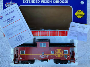 USA Trains R12101 G Scale Santa Fe Caboose EX/Box