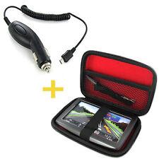 Hardcase Trage-Tasche  + LADEKABEL TomTom Go 50 60 600 LIVE 825 Start 25 M 60