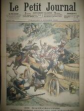 AUTO OFFICIERS RUSSES GUERRE MANDCHOURIE MOUKDEN SHENYANG LE PETIT JOURNAL 1904