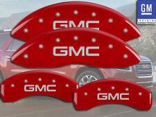 "2002-2005 ""GMC"" Envoy Front + Rear Red MGP Brake Disc Caliper Covers 4pc Set"