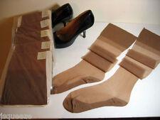 "7 PAIRS 1950 FLAT KNIT NYLON STOCKINGS  Cotton Soles 9 1/2"" X 30"""