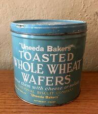 Vintage Uneeda Bakers Toasted Whole Wheat Wafers Empty Tin