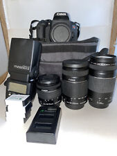 Canon EOS Rebel T7i 24.2MP Digital SLR + 3 Lens, Carrying Case, ETTL, & more...