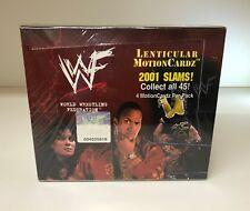 WWF WWE Lenticular Motion Slams! - Sealed Trading Card Hobby Box - Artbox 2001