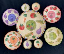 9 Piece Salad For 4 Four TableTops Unlimited Salad Dressing Serving Bowls