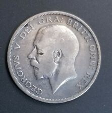 1920 Great Britain United Kingdom UK King GEORGE V Silver Half Crown Coin.