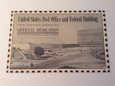 VERY RARE 1962 U.S Post Office Fed Bld.  Dedication Program New Orleans , LA VTG