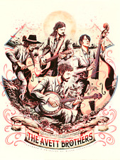 Avett Brothers Poster Wings Event Center Kalamazoo, MI 6/16/17