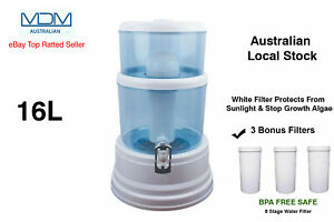 Aimex Water Purifier 8 Stage White Water Filter Ceramic 16L BPA Free + 3 Filter