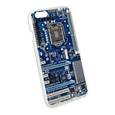 Blue Computer Motherboard - Processor CPU Memory Case for Apple iPhone 6 6s