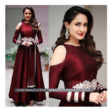 Beautiful Bollywood Designer Party Wear Maroon Color Gown Royal Anarkali Dress
