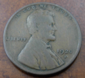 US 1920s Copper 1 Lincoln Cent Circulated
