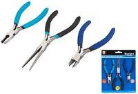 3 Piece Mini Miniature Plier Set Combination Needle Nose + Wire Cutters Pliers