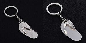 Flip Flop Keyring NEW UK Seller Metal Key Ring Holiday Sun Fun Beach Flops