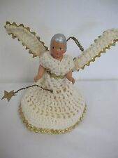 Vintage Angel Composition Tree Topper Crochet Dress
