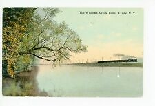 The Willows—Clyde River—CLYDE NY Antique PC Train 1911