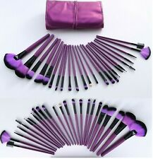 Professional 32 Pcs Purple Make up Brushes Set and Cosmetic Brush Case UK