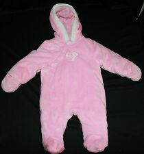 Baby Pretty Marc Ecko Sz 6 Mos Pink One Piece Snow Suit Bunting Coat Super Soft