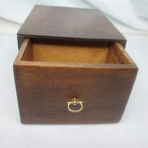 Vintage Handmade Wooden Box with Divided Drawer - For Home or Office