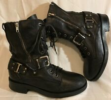 River Island Black Ankle Leather Beautiful Boots Size 6 (185Q)