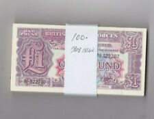 More details for 100 2nd series £1 military armed forces banknotes in near mint condition