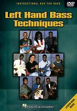 LEFT HAND BASS TECHNIQUE GUITAR DVD LOUIS JOHNSON LARRY GRAHAM ABE LABORIEL NEW