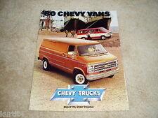 1980 Chevrolet Van G10 G20 G30 Beauville Sportvan sales brochure literature