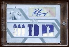 PEYTON MANNING 2008 TOPPS AUTO 1/1 300 TD'S 7X PIECE OF PATCHES LOGO  BEAUTIFUL