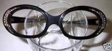 Vintage Eyeglasses Black 56 Stones WOW!!!!!!!