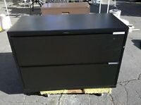 "* HERMAN MILLER FILE CABINET 2 DRAWER LATERAL 42"" Black We Deliver Locally NorCA"