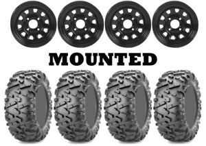 Kit 4 Maxxis Bighorn 2.0 Tires 26x9-12/26x11-12 on ITP Delta Steel Black PRA