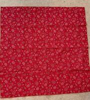 "Longaberger Backyard Bandana 36"" Fabric Square Table Cloth Overlay NEW no pkg"
