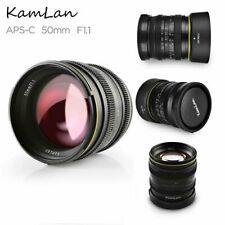 Kamlan 50mm F1.1 Single Focus Manual Camera Lens FX Mount For Fujifilm Camera