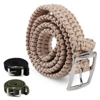 Paracord Waist Band Belt w/ Buckle Outdoor Emergency Survival Tactical Camping