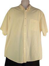 Izod Men's Size Large Yellow Short Sleeve Button Down Shirt Cotton (L) Plaid