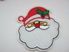 """Santa Iron On Christmas Patches Appliques 7cm (2 3/4"""") Christmas Clothing Crafts"""