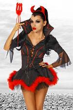 Teufelskostüm Damen 3-tlg. schwarz/rot 34-42 Fasching Karneval Teufel Kostüm