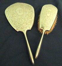 Antique Roden Bros/Birks 925 Sterling Silver Vanity Dresser Mirror Brush Set