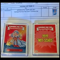 "2019 Topps Garbage Pail Kids ""NOT-SCARS"" COMPLETE Card Set GPK LE Sticker Set"