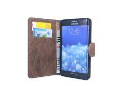 Style Livre Étui de Portable Etui en Marron pour Samsung Galaxy Note Edge N915f