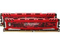 Ballistix Sport LT 32GB (2 x 16GB) 288-Pin DDR4 SDRAM DDR4 2400 (PC4 19200) Desk