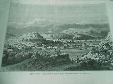 Gravure 1878 - Afghanistan Caboul capitale du royaume de l'émir Sheer Ali Khan