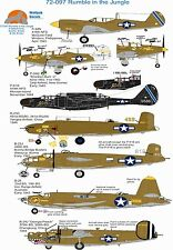 Wolfpak Decals 72-097 Rumble in the Jungle P-40 B-24 Liberator P-39 B26 Merauder